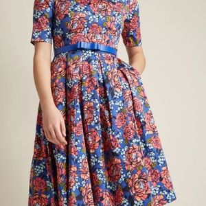 NWT Boat neck dress with pockets. ModCloth